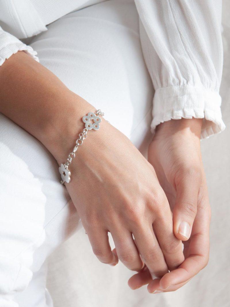 Bracelet Flora Oriental Argent
